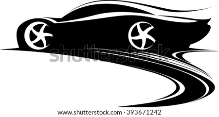 Sport Car Label Design Fast Car Stock Vector (Royalty Free ...