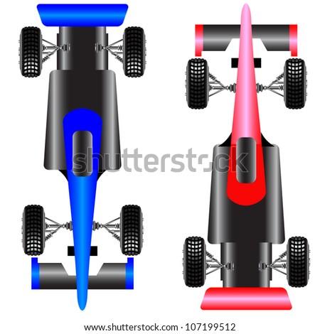 Sport car scheme top view. vector illustration. - stock vector