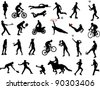 sport collection - stock vector