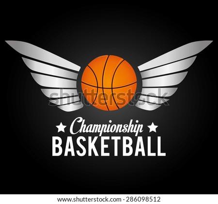 Sport design over black background, vector illustration. - stock vector