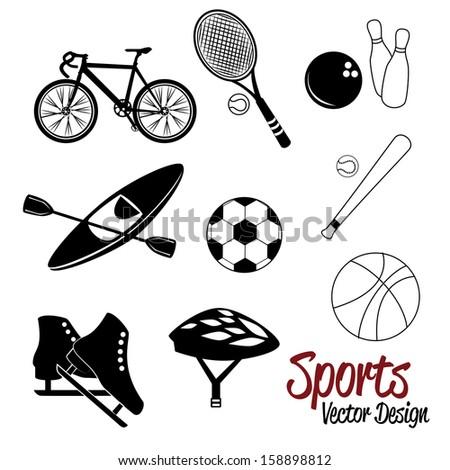 sport design  over white background vector illustration - stock vector
