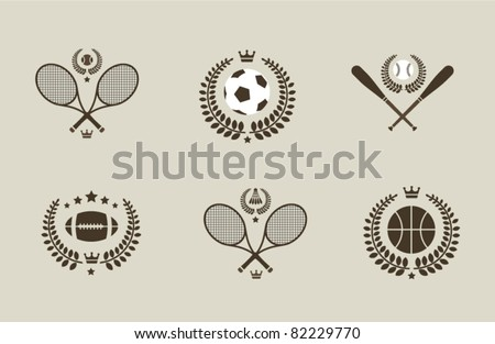 Sport emblems - stock vector