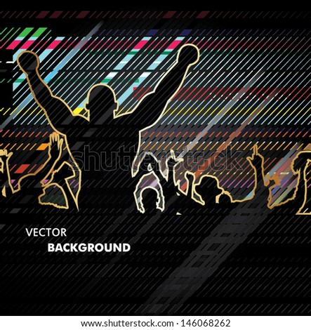 Sport Fans - stock vector