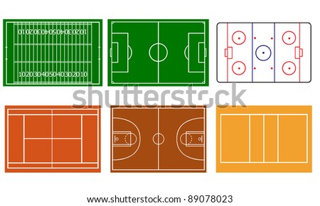 sport field illustration - stock vector