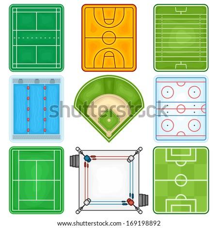 Sport Fields Icon - Illustration - stock vector