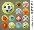 Sport, games and leisure, long shadow icon set - stock vector