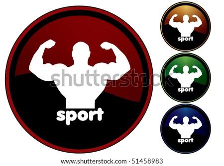 Sport icon - stock vector