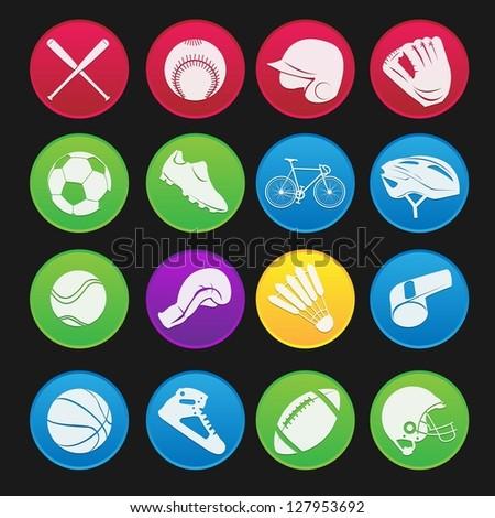 Sport Icon Gradient Style - stock vector