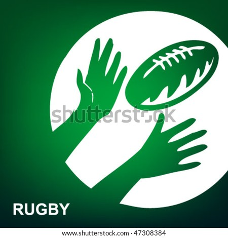 sport icon on the green background - stock vector