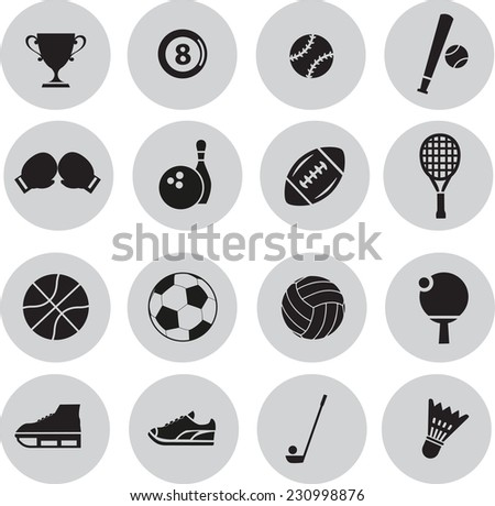 sport icon set - stock vector