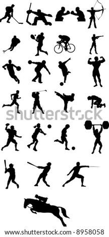 sport icon silhouette vector file - stock vector
