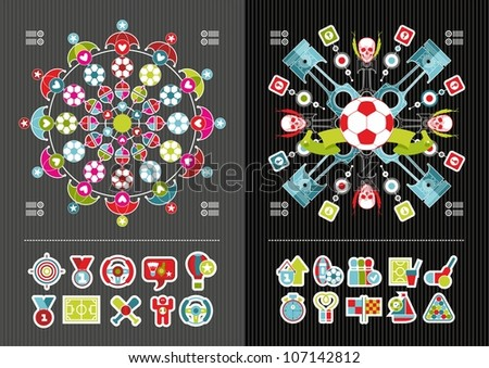 sport icons and infographics - stock vector