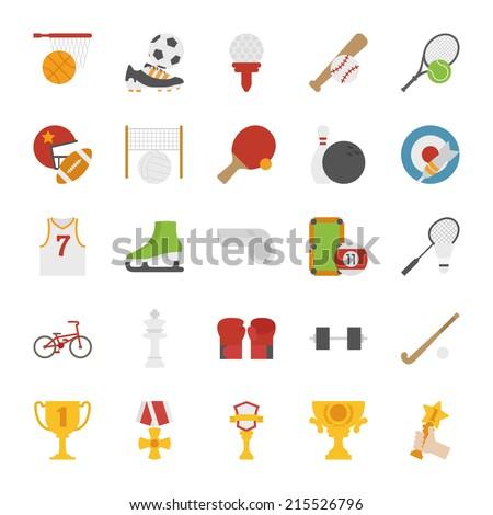 Sport  icons , flat design , eps10 vector format - stock vector