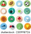 sport icons in flat design - stock vector