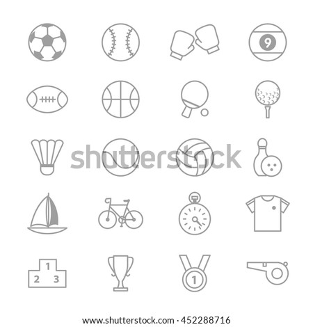 Sport Icons Line Set Of Vector Illustration - stock vector
