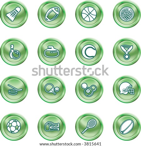 sport icons series of icons or design elements relating to sports - stock vector