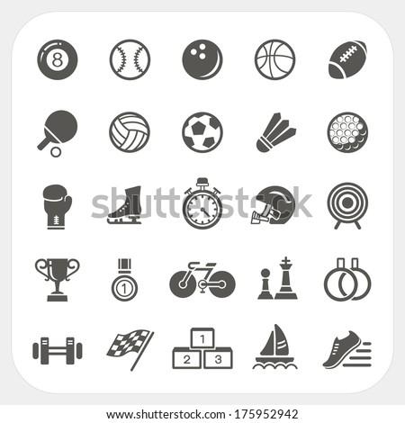 Sport icons set - stock vector
