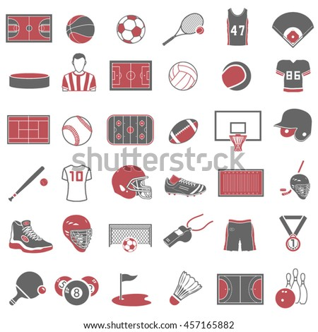 Sport Icons Set - stock vector