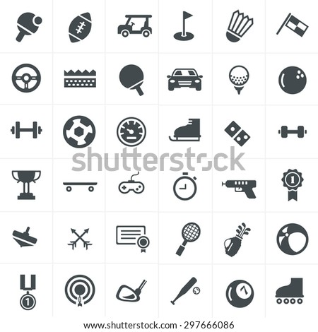 Sport Icons Set Design.