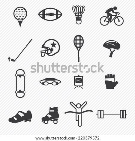 Sport icons set.illustration eps10 - stock vector