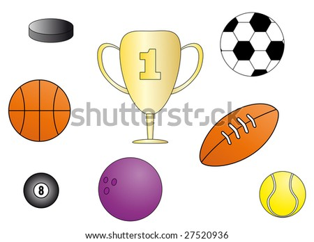 Sport icons. Vector - stock vector