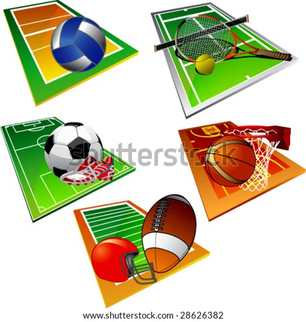 Sport icons-vector - stock vector