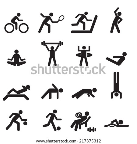 Sport Icons Vector files. - stock vector