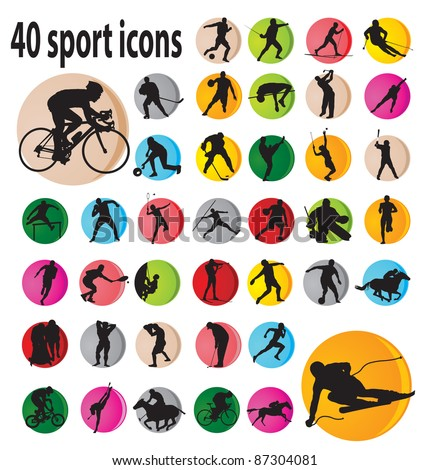 Sport icons. Vector illustration - stock vector