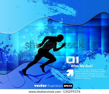 Sport illustration. Vector background - stock vector