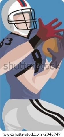 Sport illustrations series. American football illustration. - stock vector