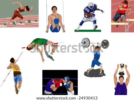sport illustrations set - stock vector