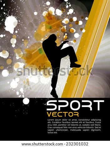 Sport, karate, vector - stock vector