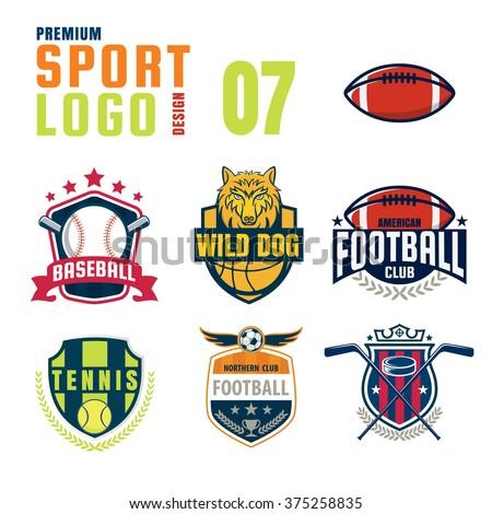 sport logo design set stock vector royalty free 375258835