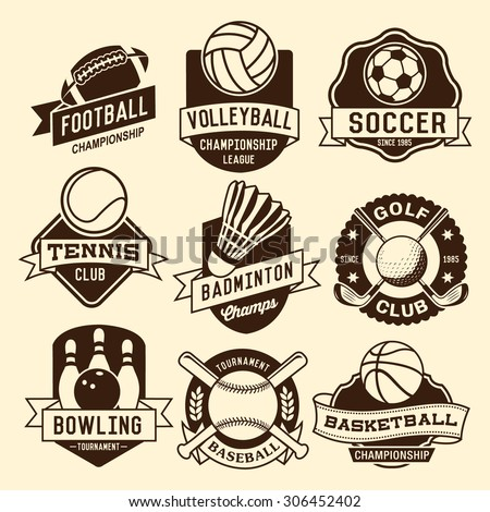 Sport logotypes set. Sport design elements, logos, badges, labels, icons and objects - stock vector