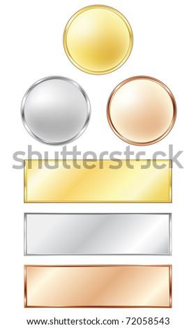 Sport medals - stock vector