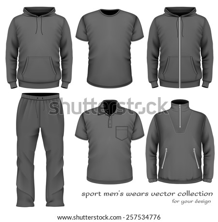 Sport men's wear collection. Vector illustration - stock vector