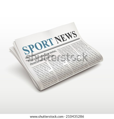 sport news words on newspaper over white background