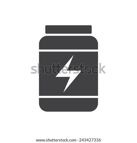 Sport Nutrition, modern flat icon - stock vector