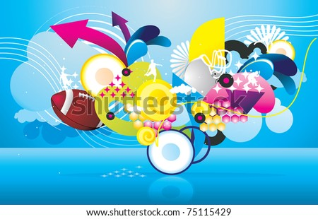 sport objects vector illustration