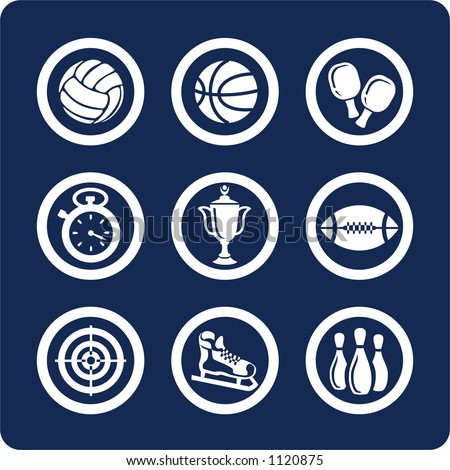 "Sport (p.1). To see all icons, search by keywords: ""agb-vector"" or ""agb-raster"" - stock vector"