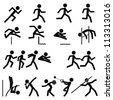 Sport Pictogram Icon Set 02 Track & Field - stock vector
