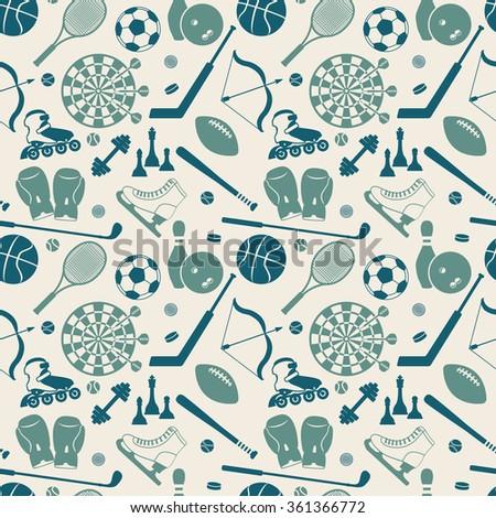 sport seamless pattern. vector illustration - eps 8 - stock vector