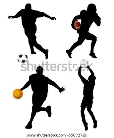 sport set - stock vector