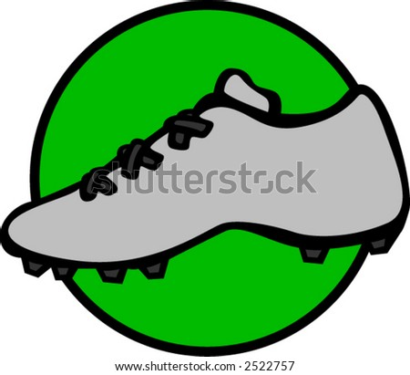 sport shoe with cleats - stock vector