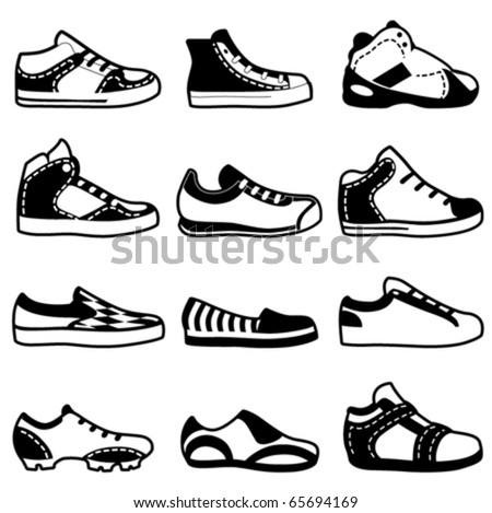 sport shoes - stock vector
