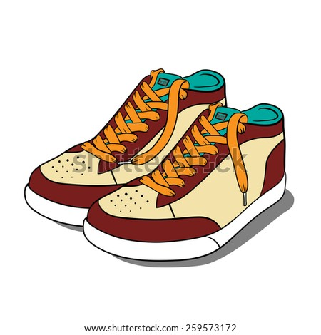 Sport shoes. Vector illustration - stock vector