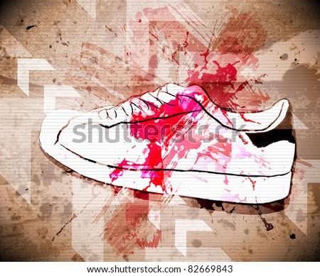 Sport shoes. Vector illustration - stock vector