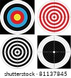 Sport shooting Target (archery, shooting). Vector. - stock vector