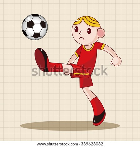 Sport soccer player theme elements vector,eps