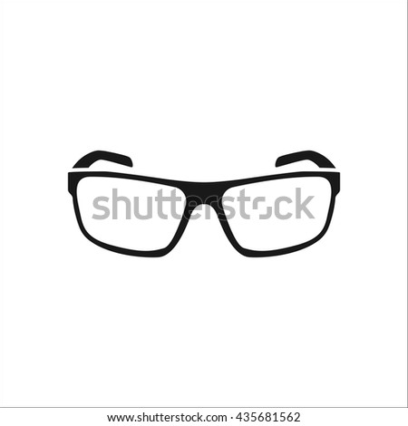Sport sunglasses sign simple icon on background